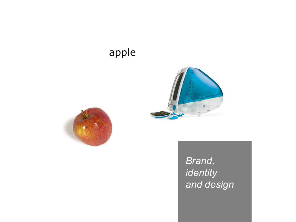 Brand, identity and design apple