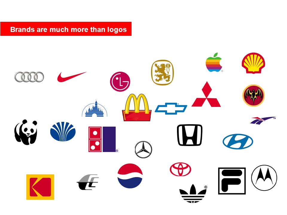 Brands are much more than logos