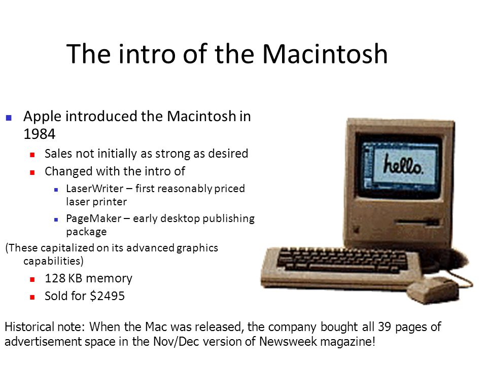 an introduction to the history of apple computer inc History of apple computer, inc apple computer, inc designs, manufactures, and markets personal computers, software the introduction of apple.