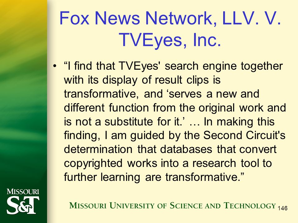Fox News Network, LLV. V. TVEyes, Inc.