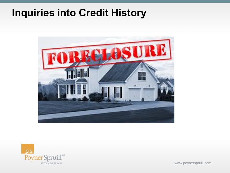 Inquiries into Credit History