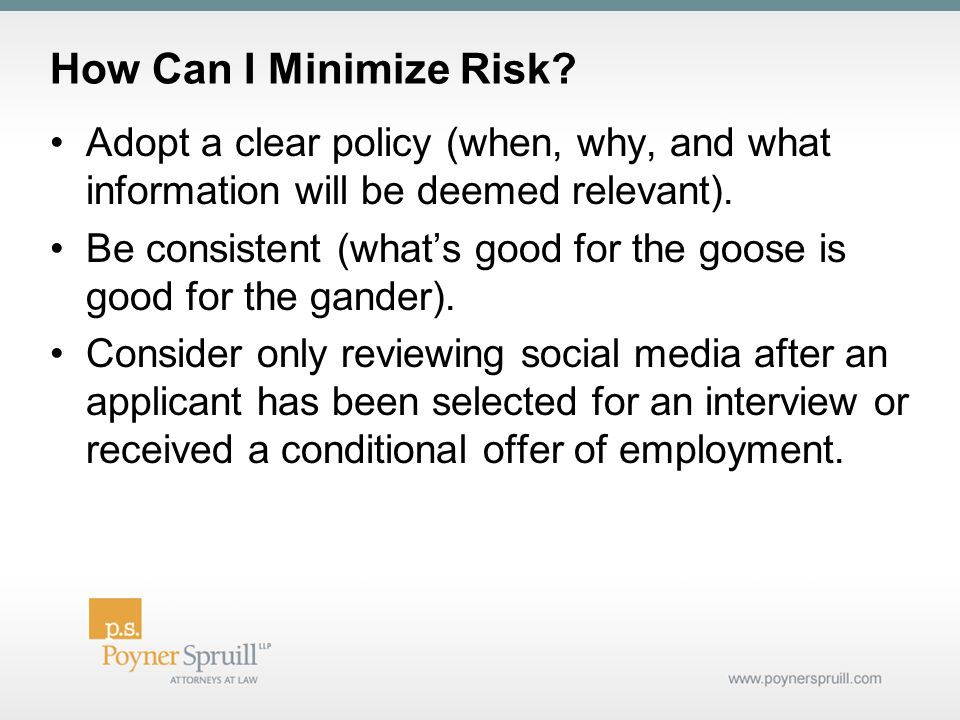 How Can I Minimize Risk.