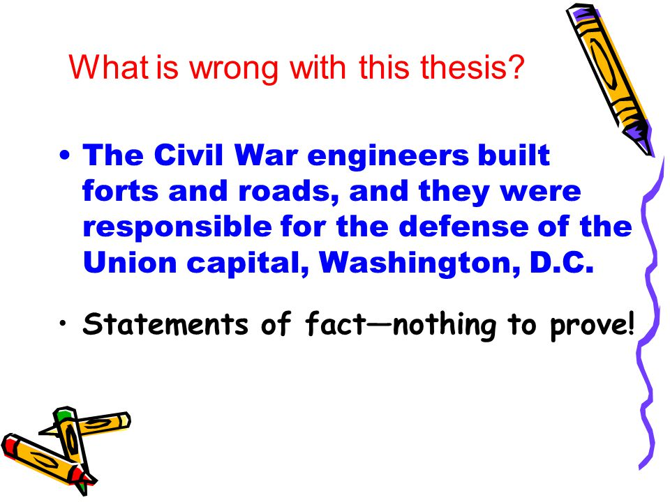 thesis statement on civil war What is is a good thesis statement for the civil war being inevitable.