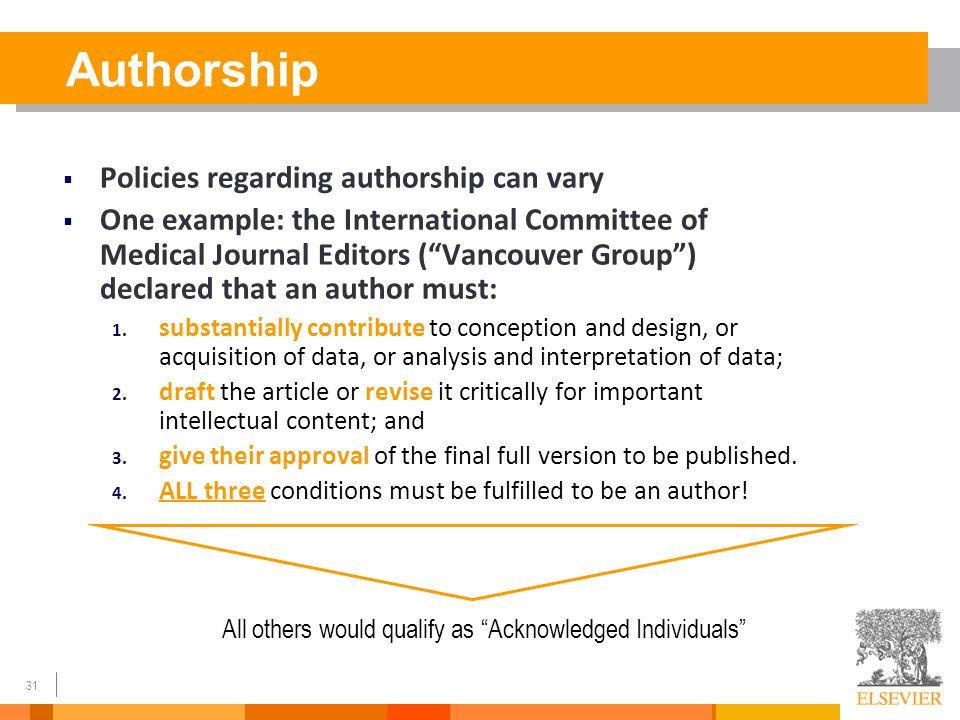 Journal Publications & Authorship?