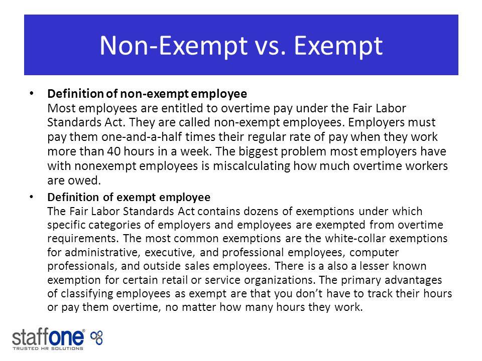 Superb Non Exempt Vs.