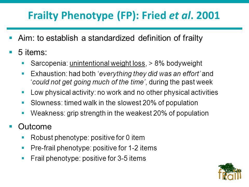 5 Frailty Phenotype ...