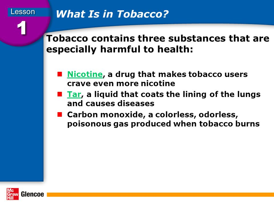 What Is in Tobacco.