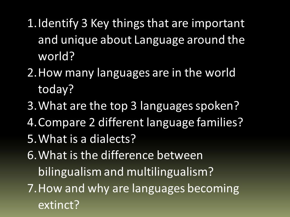 Language What Is It Language Is A Systematic Means Of - How many languages are in the world today
