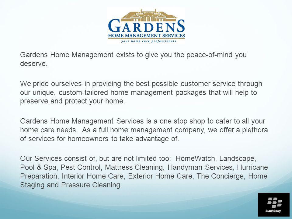 Good 3 Gardens Home Management ...