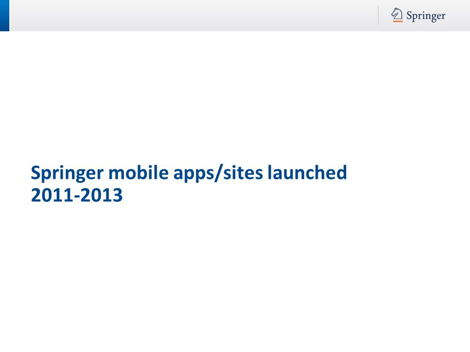 Springer mobile apps/sites launched