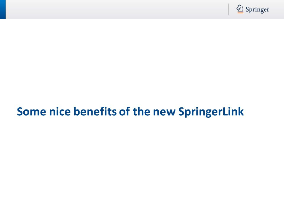 Some nice benefits of the new SpringerLink