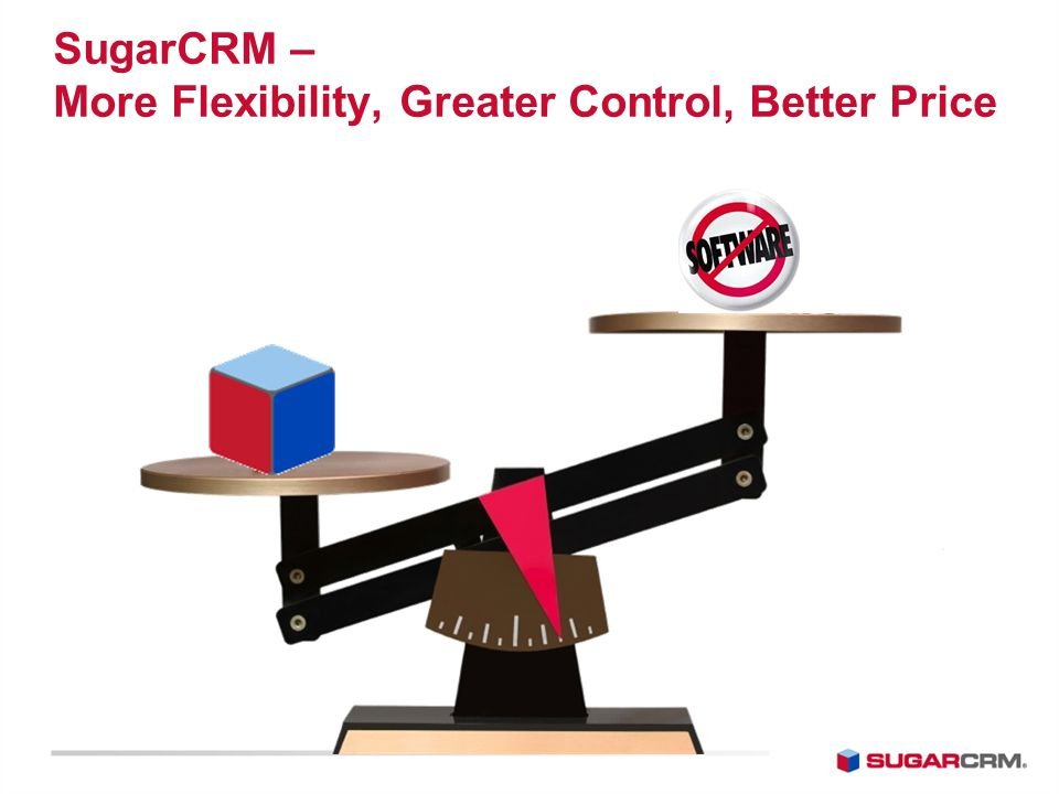 SugarCRM – More Flexibility, Greater Control, Better Price