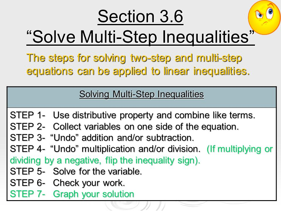 Step 7 Aa Worksheet – Solving Multi Step Inequalities Worksheet