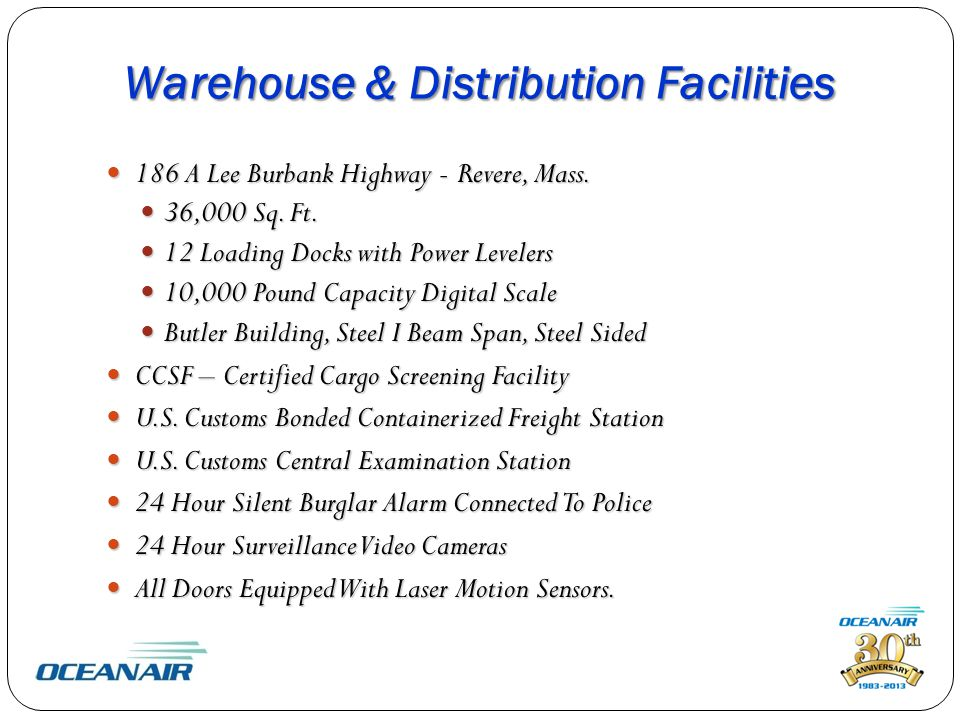 Warehouse & Distribution Facilities 186 A Lee Burbank Highway - Revere, Mass.