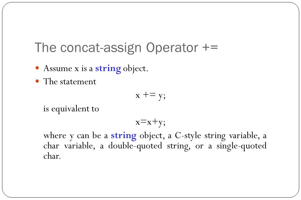 String assign