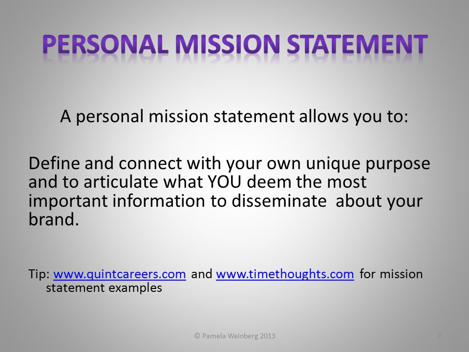 Discovering Your Personal Brand  Pamela Weinberg Ppt Download