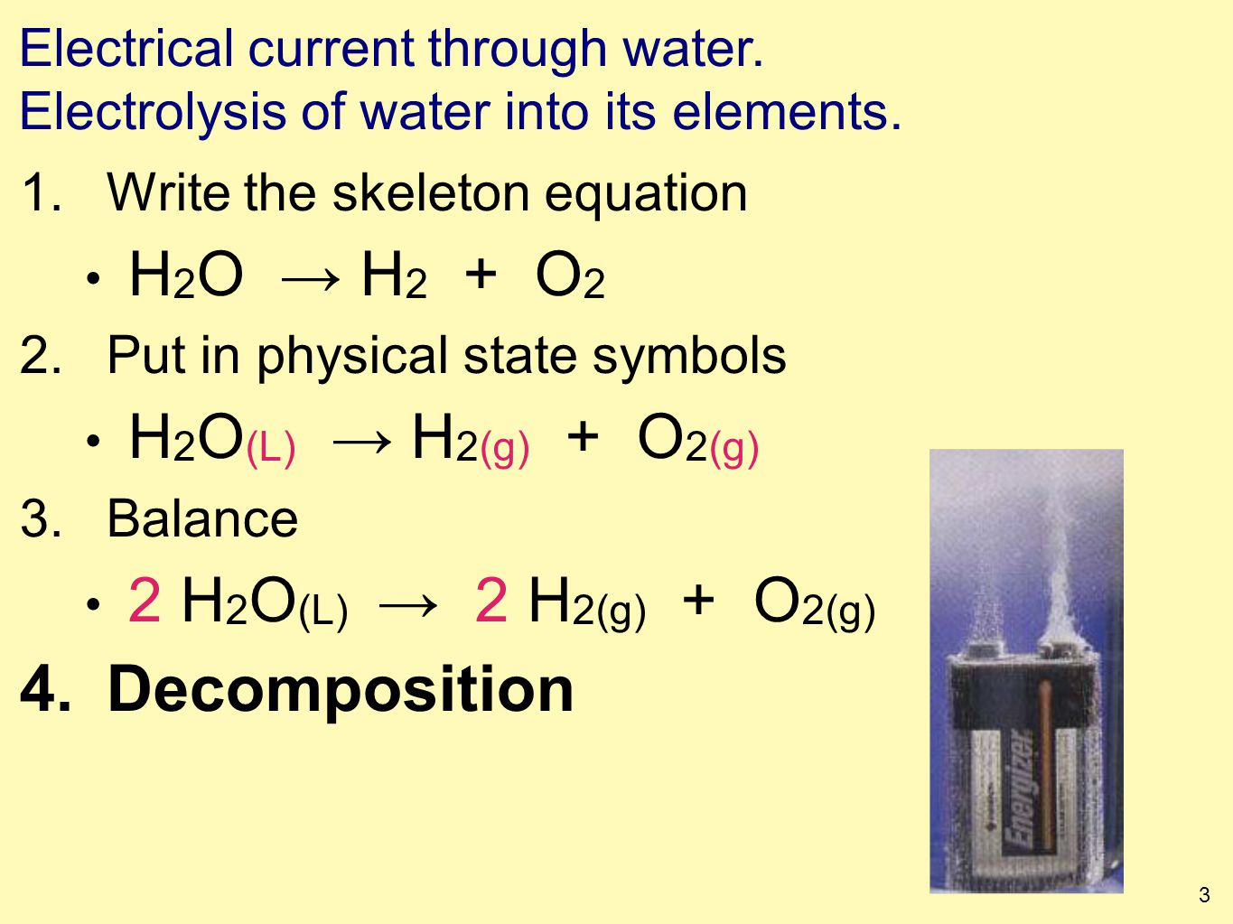 1 writing chemical equations to symbolize chemical reactions 3 3 electrical biocorpaavc Choice Image