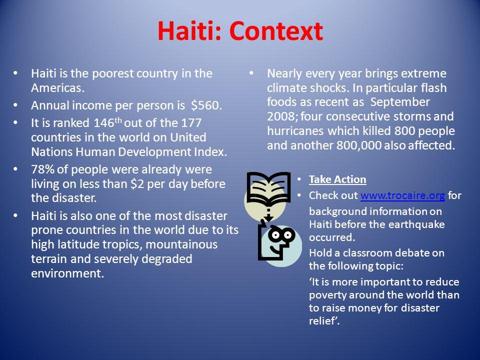 Haiti Earthquake Trócaires Response Haiti Fact File Haiti Is - Poorest caribbean countries