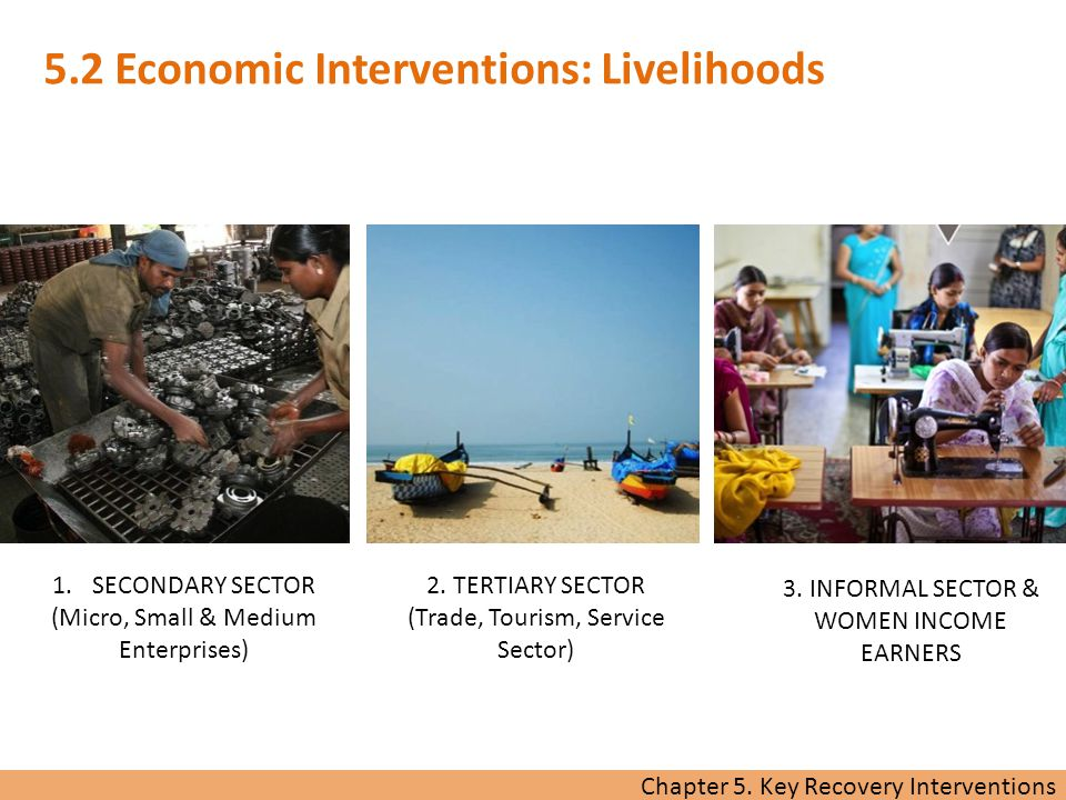Chapter 5. Key Recovery Interventions BUSINESS & INDUSTRY 3.