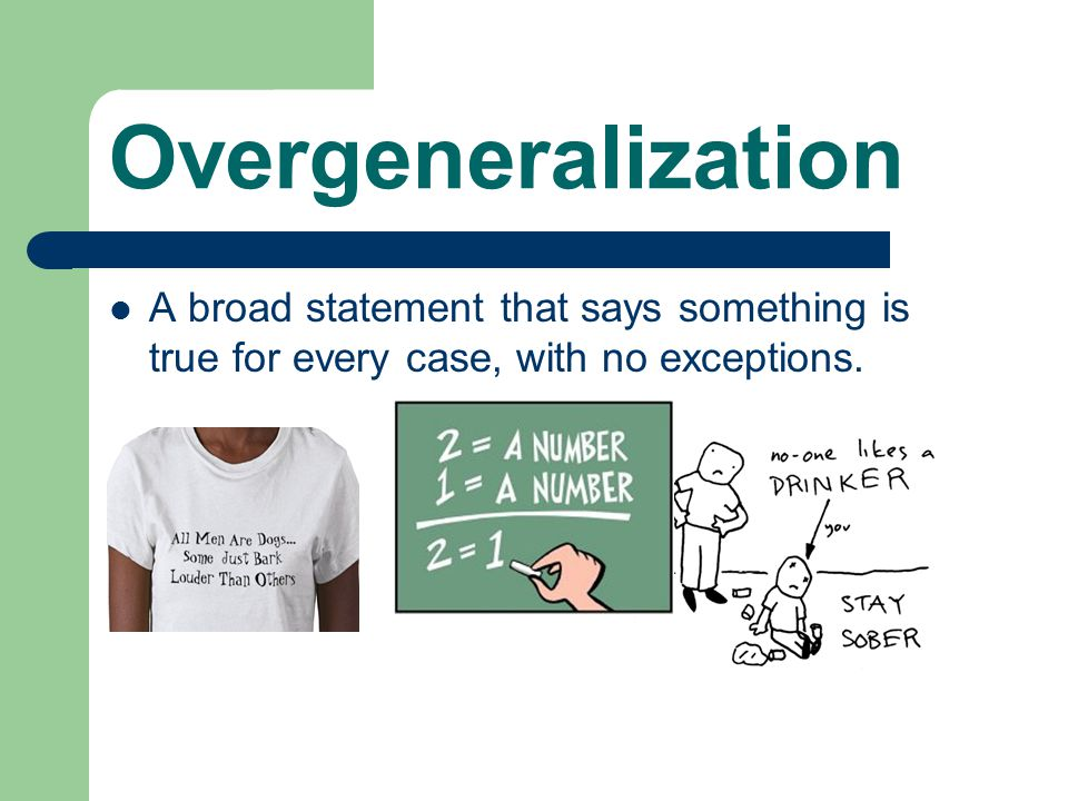 Stereotyping A stereotype is a generalization about a group of people (Racial, ethnic, religious) that doesn't take into account individual differences
