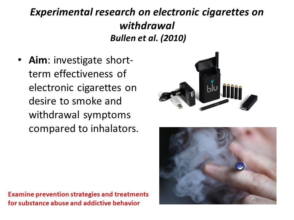 E smoke warning