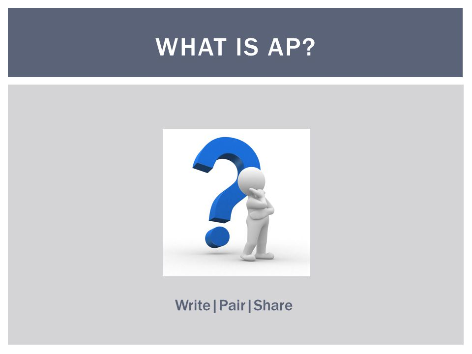WHAT IS AP Write|Pair|Share