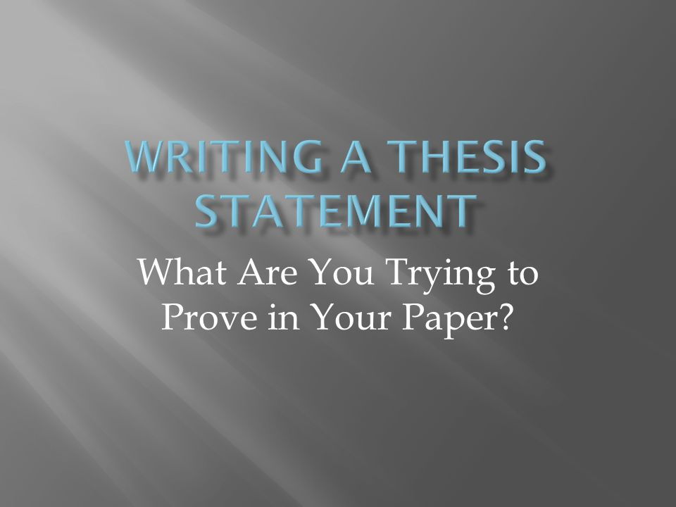 crucible thesis statements
