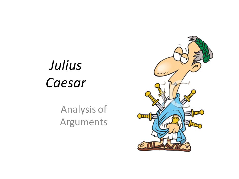 analysis of julius caesar Of all the leading characters in julius caesar, cassius develops most as the action progresses at the end of act i, scene 2, he is a passionate and devious manipulator striving to use brutus to gain his ends by the end of act iv, scene 3, he is a calm friend of brutus who will remain faithful to their friendship until death.