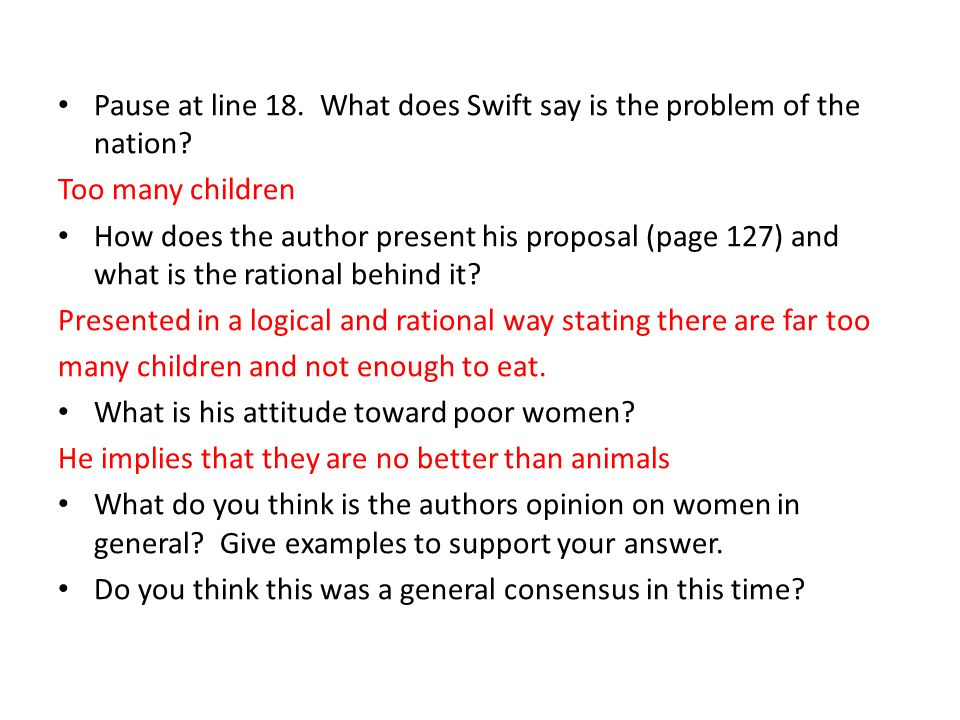 A Modest Proposal    Objective    ppt download NESM    how does jonathan swift use understatement in a modest proposal