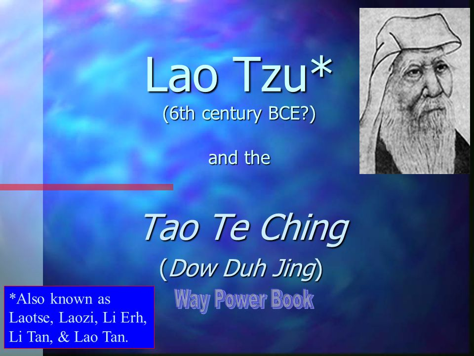 lao tzu tao te ching essay Practicing them each day and ultimately writing down these essays as he felt lao-tzu the tao of lao tzu he read his way through the tao te ching.