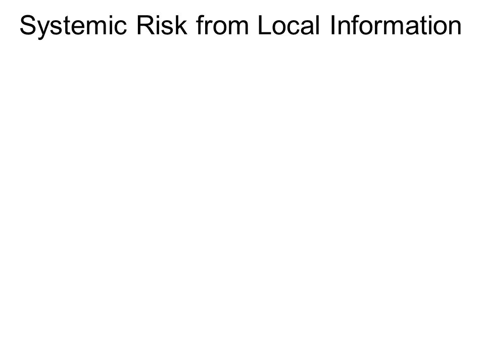 Systemic Risk from Local Information