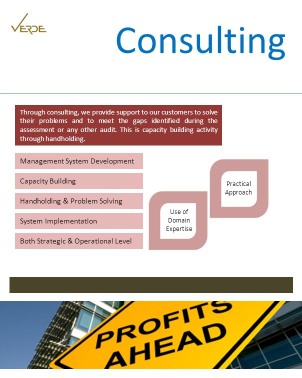Through consulting, we provide support to our customers to solve their problems and to meet the gaps identified during the assessment or any other audit.