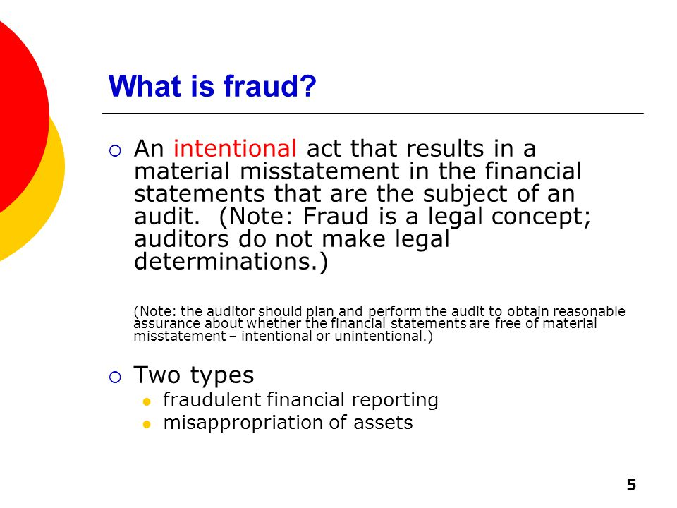 5 What is fraud.