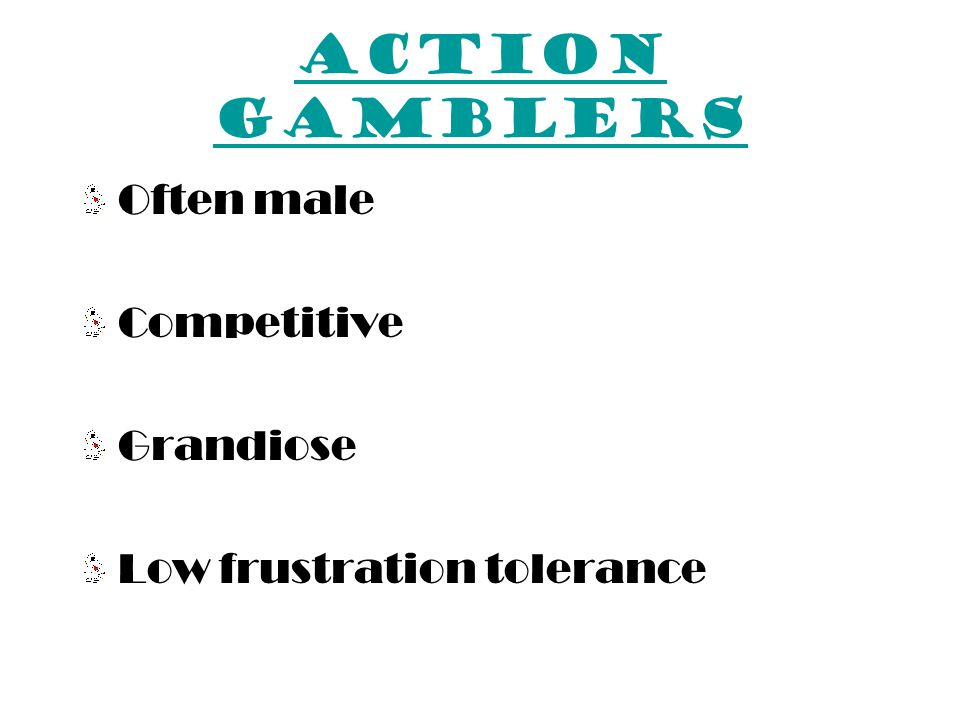 DSM-IV criteria Pathological Gambling Has committed illegal acts, such as forgery, fraud, theft, or embezzlement, in order to finance gambling 9.Has jeopardized or lost a significant relationship, job, or educational or career opportunity because of gambling 10.Relies on others to provide money to relieve a desperate financial situation caused by gambling B.