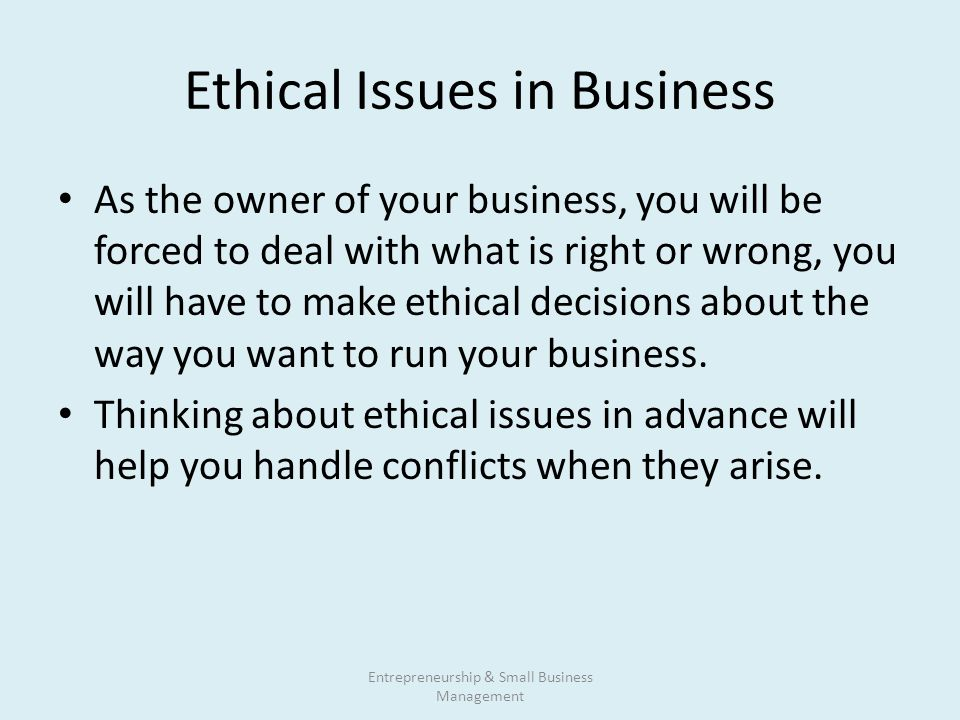 business ethical issues Available in: paperback this widely used business ethics book begins by introducing students/readers to moral reasoning a collection of readings and.