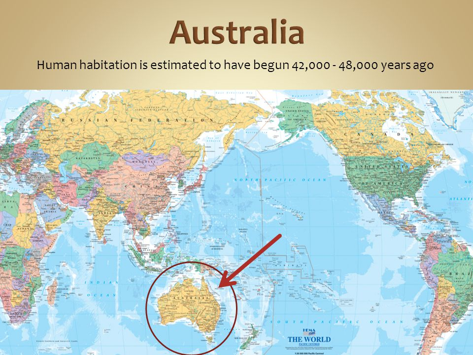 Human habitation is estimated to have begun 42,000 - 48,000 years ago