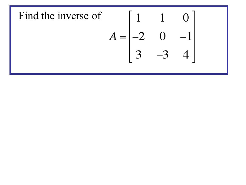 Find the inverse of