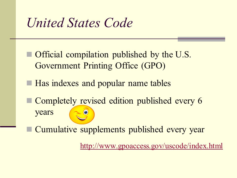 United States Code Official compilation published by the U.S.