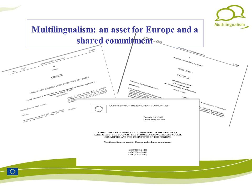Multilingualism: an asset for Europe and a shared commitment