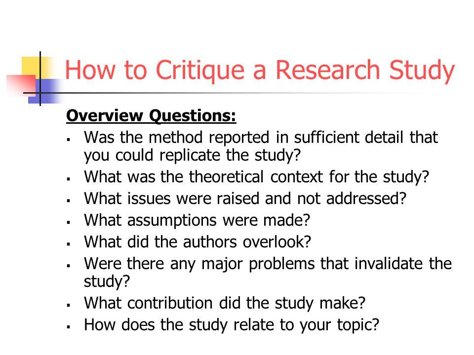 research critique 2