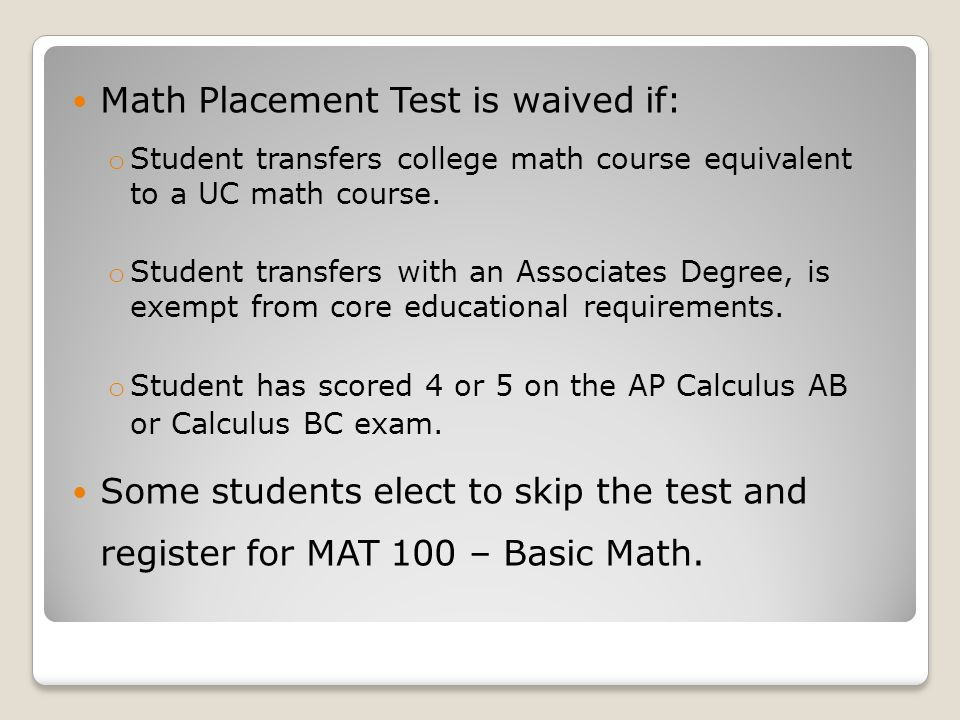 Math Placement at Utica College Superintendents Breakfast April 19 ...