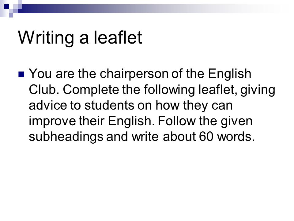 How to improve writing english