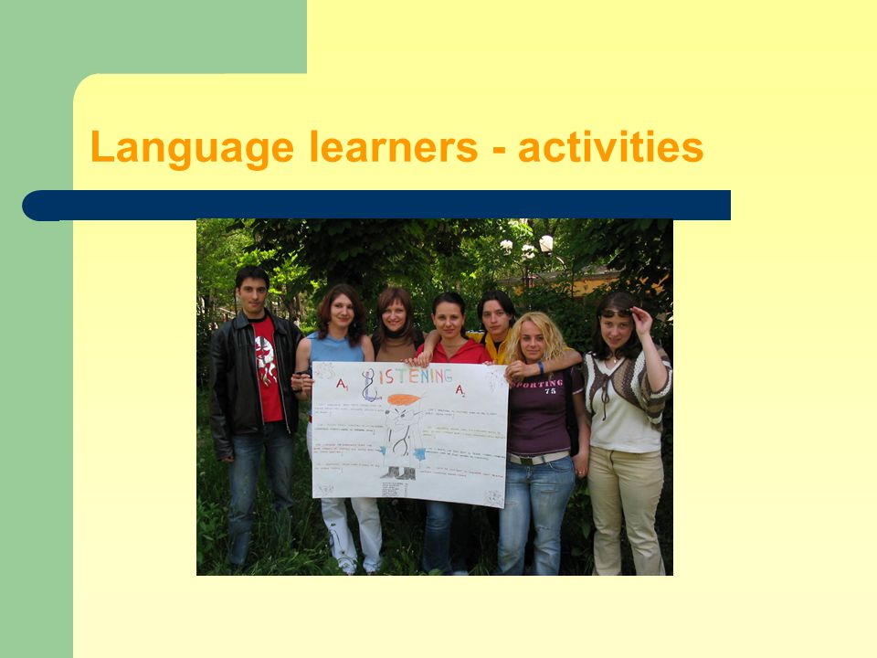 Language learners - activities
