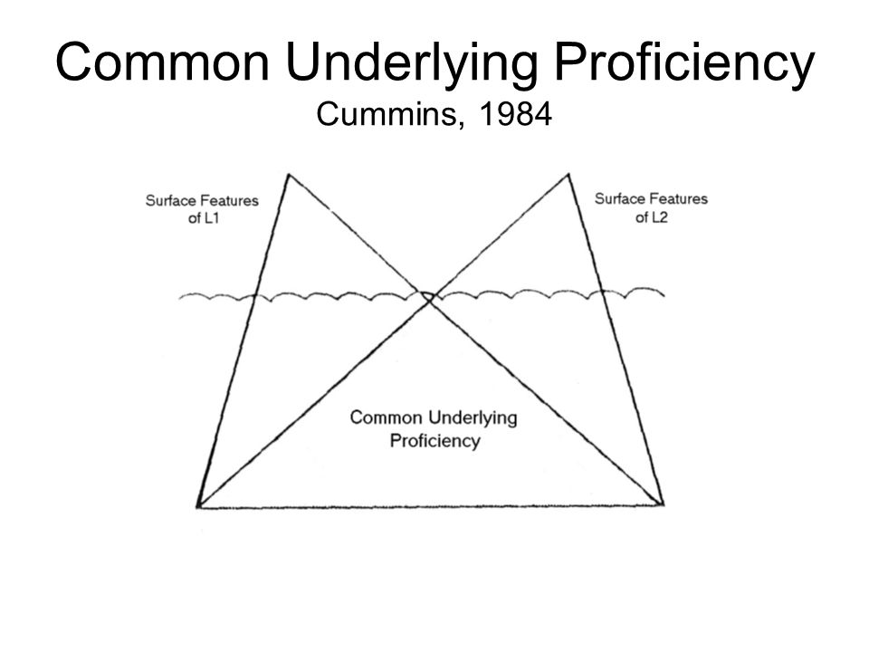 Common Underlying Proficiency Cummins, 1984