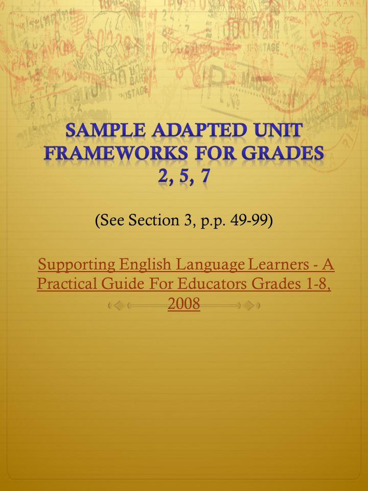 Supporting English Language Learners - A Practical Guide For Educators Grades 1-8, 2008Supporting English Language Learners - A Practical Guide For Educators Grades 1-8, 2008