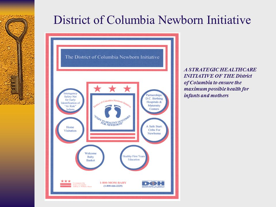 A STRATEGIC HEALTHCARE INITIATIVE OF THE District of Columbia to ensure the maximum possible health for infants and mothers District of Columbia Newborn Initiative