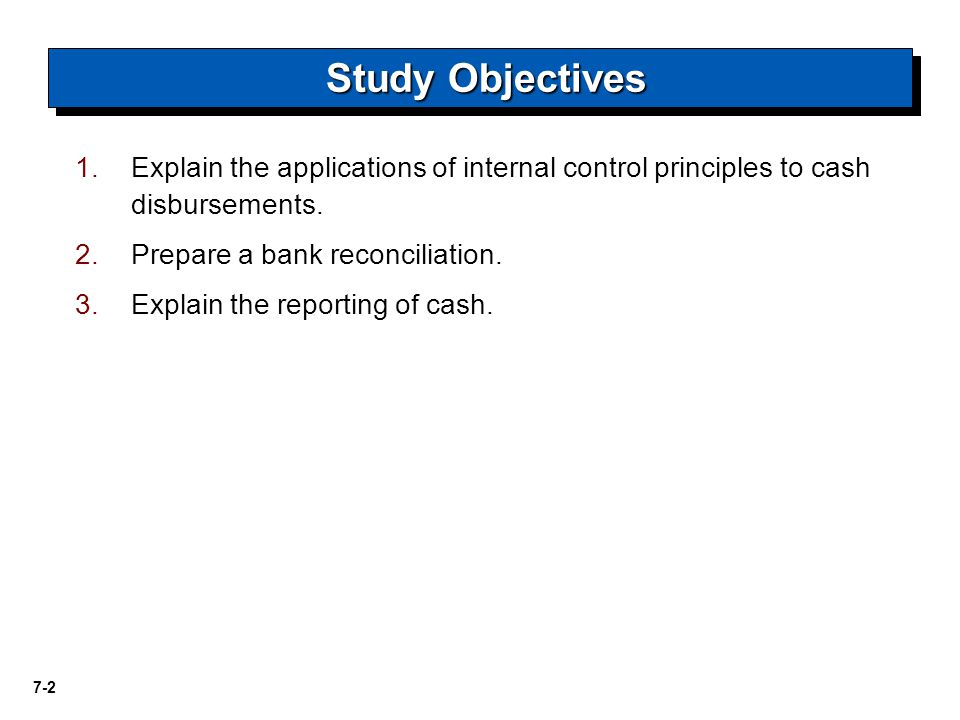 Explain the applications of internal control principles to cash disbursements.