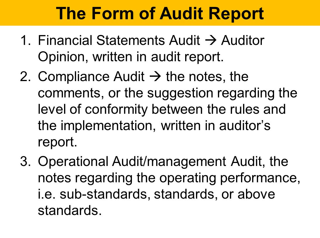 auditing and financial statements