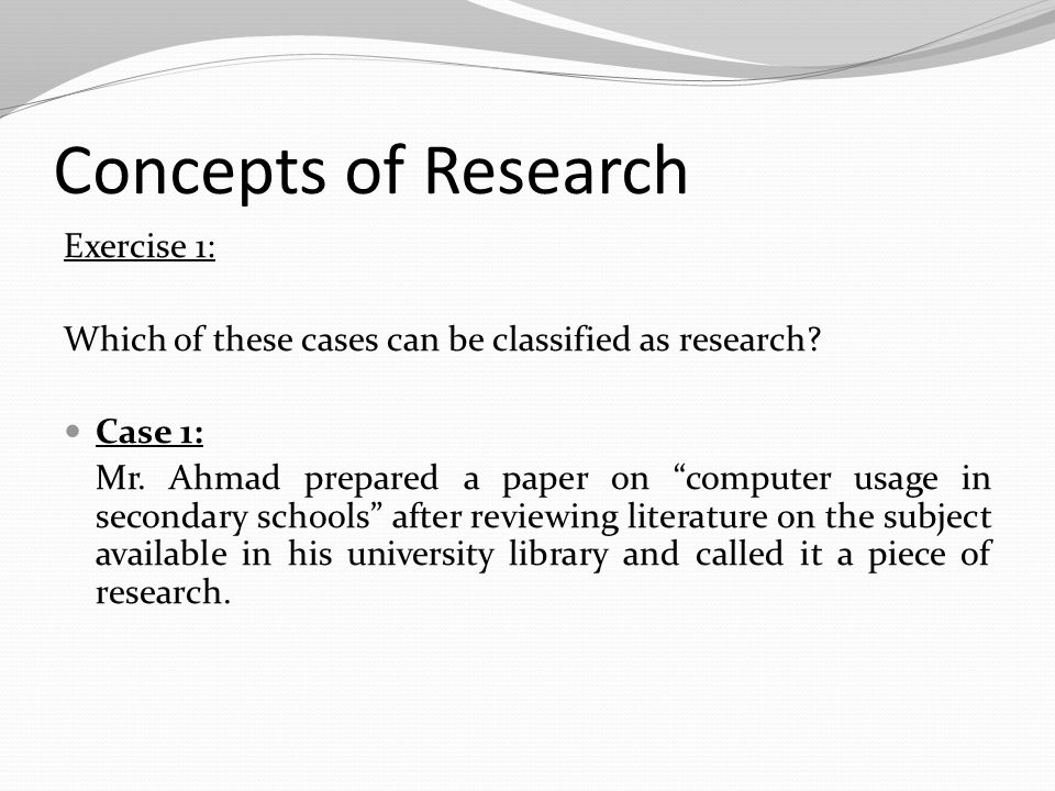 concepts for science fair research paper