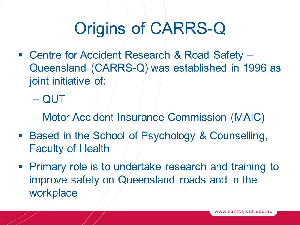 """Presentation """"CRICOS No. 00213J Work Related Road Safety ..."""